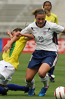 Abby Wambach v Brazil.US Women's National Team vs Brazil at Legion Field in Birmingham, Alabama.