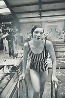 Russian victor: Elena Burmenskaya; member of Soviet swim team touring Canada; was an easy winner in the Ontario championships last night in Etobicoke.