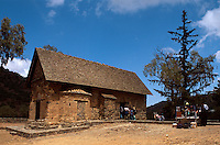 Zypern (Süd), Scheunenkirche Parnagia Forviotissa in Asinou im Troodos, 12.Jh., Unesco-Weltkulturerbe