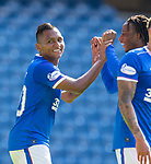 Rangers v St Mirren:  Alfredo Morelos celebrates his second goal with team mate Joe Aribo