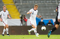 GUADALAJARA, MEXICO - MARCH 24: Jackson Yueill #6 of the United States chases down a ball during a game between Mexico and USMNT U-23 at Estadio Jalisco on March 24, 2021 in Guadalajara, Mexico.