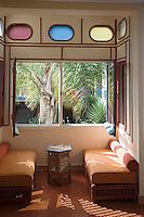 Afrique/Afrique du Nord/Maroc/Rabat: Hotel - Maison d'Hote Villa Mandarine détail intérieur d'une chambre avec vue sur le patio [Non destiné à un usage publicitaire - Not intended for an advertising use]
