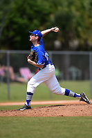 U-Mass Boston Beacons pitcher Steve Witkowski (28) during a game against the Farmingdale State Rams at North Charlotte Regional Park on March 19, 2015 in Port Charlotte, Florida.  U-Mass Boston defeated Farmingdale 9-5.  (Mike Janes/Four Seam Images)