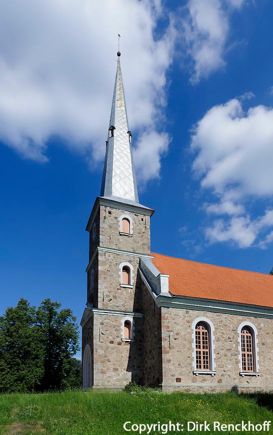 evangelische KircheKirche von Mazirbe, Lettland, Europa