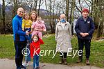 Enjoying a stroll around Ross Castle in Killarney on Sunday, l to r: Michael, Muireann, Peg, Mae and Kitty O'Donoghue, Kathleen and Cllr Michael Gleeson.