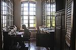 A man studies at E'cole Francaise D'extreme - Orient in Pondicherry. Arindam Mukherjee