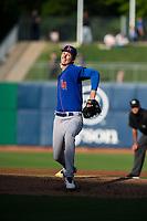 Midland RockHounds pitcher Brian Howard (23) delivers a pitch on May 4, 2019, at Arvest Ballpark in Springdale, Arkansas. (Jason Ivester/Four Seam Images)