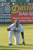 Daytona Tortugas outfielder Phillip Ervin (6) before a game against the Tampa Yankees at Radiology Associates Field at Jackie Robinson Ballpark on June 13, 2015 in Daytona, Florida. Tampa defeated Daytona 8-6. (Robert Gurganus/Four Seam Images)