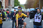 Primoz Roglic (SLO) Team Jumbo-Visma wins Liege-Bastogne-Liege 2020, running 257km from Liege to Liege, Belgium. 4th October 2020.<br /> Picture: ASO/Gautier Demouveaux | Cyclefile<br /> All photos usage must carry mandatory copyright credit (© Cyclefile | ASO/Gautier Demouveaux)