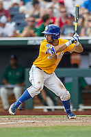 UC Santa Barbara Gauchos outfielder Billy Fredrick (26) at bat against the Miami Hurricanes in Game 5 of the NCAA College World Series on June 20, 2016 at TD Ameritrade Park in Omaha, Nebraska. UC Santa Barbara defeated Miami  5-3. (Andrew Woolley/Four Seam Images)