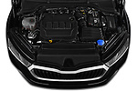 Car Stock 2020 Skoda Octavia Style 5 Door Hatchback Engine  high angle detail view