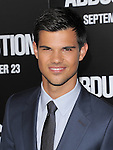 Taylor Lautner at The Lionsgate Premiere of ABDUCTION  held at The Grauman's Chinese Theatre in Hollywood, California on September 15,2011                                                                               © 2011 DVS/ Hollywood Press Agency