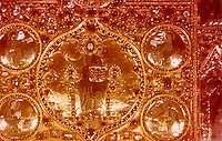 Venezia:  Basilica San Marco--Pala d'Oro--centrl detail.