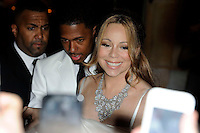 News Pictures--- PARIS, FRANCE - APRIL 27: US singer Mariah Carey and her husband Nick Cannon leave the 'Plaza Athenee' Hotel to go for dinner at the Eiffel Tower, on April 27, 2012 in Paris, France. Local Caption Mariah Carey, Nick Cannon  .. Credit: Edouard Bernaux/News Pictures/MediaPunch inc. ***FOR USA ONLY*** NORTEPHOTO.COM<br /> **SOLO*VENTA*EN*MEXICO**