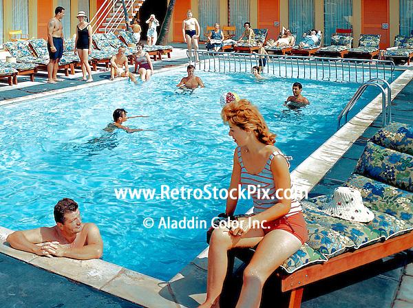 Tahiti Motel in Wildwood Crest, New Jersey. 1960's photographs.