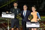 Simona Halep and Grigor Dimitrov win the of the Charity day previus at Madrid Open Tenis 2017in  Madrid, Spain. May 04, 2017. (ALTERPHOTOS/Rodrigo Jimenez)
