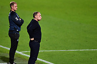 Steve Cooper Head Coach of Swansea City looks dejected during the Sky Bet Championship Play Off Semi-final 2nd Leg between Brentford and Swansea City at Griffin Park in Brentford, England, UK. 29th July, 2020