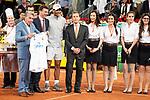 Carlos Santana, Emilio Butrageno and Rafa Nadal during Mutua Madrid Open 2018 at Caja Magica in Madrid, Spain. May 10, 2018. (ALTERPHOTOS/Borja B.Hojas)