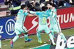 FC Barcelona's Luis Suarez, Neymar Santos Jr and Leo Messi celebrate goal during La Liga match. February 26,2017. (ALTERPHOTOS/Acero)
