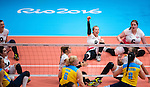 Rio 2016 - Sitting Volleyball // Volleyball assis.<br /> Canada competes against Ukraine in the Women's Sitting Volleyball Preliminary // Le Canada affronte l'Ukraine dans le tournoi préliminaire de volleyball assis féminin. 13/09/2016.