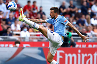 Francesco Acerbi of SS Lazio in action during the Serie A 2021/2022 football match between AC Milan and SS Lazio at Giuseppe Meazza stadium in Milano (Italy), August 29th, 2021. Photo Image Sport / Insidefoto