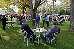 October 06, 2019, Paris (France) - Racing Fans at the garden area on the race track on October 6 in ParisLongchamp. [Copyright (c) Sandra Scherning/Eclipse Sportswire)]