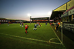 Stockport County 2 Rushden & Diamonds 2, 22/01/2006. Edgeley Park, League Two. Stockport County versus Rushden & Diamonds, Coca-Cola Football League Two at Edgeley Park, Stockport. With the teams occupying the bottom two places in the Football league, points were vital in home club's Jim Gannon's first game in charge as manager. The match ended 2-2. Picture shows Rushden (red) try to keep possession as they try to protect a 2-1 lead late in the game.<br />  Photo by Colin McPherson.
