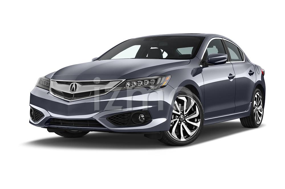 Stock pictures of low aggressive front three quarter view of 2018 Acura ilx Tech Plus A Spec 4 Door Sedan