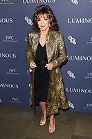 LONDON, UK. October 01, 2019: Dame Joan Collins at the Luminous Gala 2019 at the Roundhouse Camden, London.<br /> Picture: Steve Vas/Featureflash
