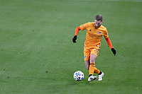 ST PAUL, MN - OCTOBER 18: Adam Lundqvist #3 of Houston Dynamo kicks the ball during a game between Houston Dynamo and Minnesota United FC at Allianz Field on October 18, 2020 in St Paul, Minnesota.