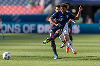 DENVER, CO - JUNE 3: Mark McKenzie #15 of the United States passes off the ball during a game between Honduras and USMNT at EMPOWER FIELD AT MILE HIGH on June 3, 2021 in Denver, Colorado.