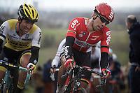 Jens Debusschere (BEL/Lotto-Soudal) on top of the Paterberg<br /> <br /> 71st Dwars door Vlaanderen (1.HC)