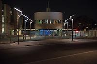 Nachtaufnahme des Kanzleramt.<br /> 9.3.2015, Berlin<br /> Copyright: Christian-Ditsch.de<br /> [Inhaltsveraendernde Manipulation des Fotos nur nach ausdruecklicher Genehmigung des Fotografen. Vereinbarungen ueber Abtretung von Persoenlichkeitsrechten/Model Release der abgebildeten Person/Personen liegen nicht vor. NO MODEL RELEASE! Nur fuer Redaktionelle Zwecke. Don't publish without copyright Christian-Ditsch.de, Veroeffentlichung nur mit Fotografennennung, sowie gegen Honorar, MwSt. und Beleg. Konto: I N G - D i B a, IBAN DE58500105175400192269, BIC INGDDEFFXXX, Kontakt: post@christian-ditsch.de<br /> Bei der Bearbeitung der Dateiinformationen darf die Urheberkennzeichnung in den EXIF- und  IPTC-Daten nicht entfernt werden, diese sind in digitalen Medien nach §95c UrhG rechtlich geschuetzt. Der Urhebervermerk wird gemaess §13 UrhG verlangt.]