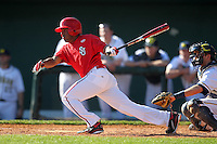 Kyle Richardson #10 of the St. John's Red Storm during the Big East-Big Ten Challenge vs. the Michigan Wolverines at Al Lang Field in St. Petersburg, Florida;  February 19, 2011.  St. John's defeated Michigan 13-6.  Photo By Mike Janes/Four Seam Images