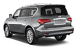 Car pictures of rear three quarter view of a 2017 Infiniti QX80 3.5 5 Door SUV Angular Rear