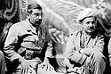 Iraq 1985   In Lolan, liberated district, during the war Irak-Iran, Masoud Barzani with an Iranian colonel<br />Irak 1985   Dans le Lolan, zone liberée, pendant la guerre Iran-Irak, Masoud Barzani avec un colonel, iranien