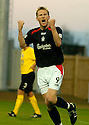 18/12/2004  Copyright Pic : James Stewart.File Name : jspa07_falkirk_v_qots.DANIEL MCBREEN CELEBRATES AFTER HE FIRES HOME FALKIRK'S SECOND.......Payments to :.James Stewart Photo Agency 19 Carronlea Drive, Falkirk. FK2 8DN      Vat Reg No. 607 6932 25.Office     : +44 (0)1324 570906     .Mobile   : +44 (0)7721 416997.Fax         : +44 (0)1324 570906.E-mail  :  jim@jspa.co.uk.If you require further information then contact Jim Stewart on any of the numbers above.........