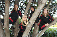 STANFORD, CA - OCTOBER 28:  Megan Hansley, Jessica Guenther, Wendy Lu and Madison Crocker during picture day on October 28, 2009 in Stanford, California.