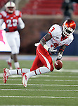 Houston Cougars wide receiver Deontay Greenberry (3) in action during the game between the University of Houston Cougars and the Southern Methodist Mustangs at the Gerald J. Ford Stadium in Dallas, Texas. SMU defeats Houston 72 to 42...