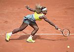 Serena Williams (USA), loses to Garbine Muguruza (ESP) 6-2, 6-2 at  Roland Garros being played at Stade Roland Garros in Paris, France on May 28, 2014