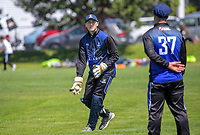 Action from the Hazlett Trophy Wellington premier men's division two cricket one-day match between Eastern Suburbs and Petone-Riverside at Miramar Park in Wellington, New Zealand on Saturday, 14 November 2020. Photo: Dave Lintott / lintottphoto.co.nz