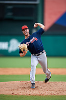 Atlanta Braves pitcher Joey Wentz (63) delivers a pitch during a Florida Instructional League game against the Canadian Junior National Team on October 9, 2018 at the ESPN Wide World of Sports Complex in Orlando, Florida.  (Mike Janes/Four Seam Images)