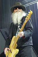 MAY 8: Dusty Hill of ZZ Top performs at Chastain Park Amphitheatre in Atlanta on May 8, 2010. CREDIT: Chris McKay / MediaPunch