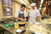 Mark Anderson of the Ruddington Arms with Josh Spencer