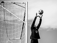 COMMERCE CITY, CO - OCTOBER 25: Jane Campbell of the USWNT makes a save at Dick's Sporting Goods training fields on October 25, 2020 in Commerce City, Colorado.