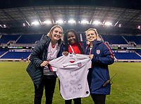 HARRISON, NJ - MARCH 08: Semahj Ware, the SheBelieves Hero, poses on the field during a game between Spain and USWNT at Red Bull Arena on March 08, 2020 in Harrison, New Jersey.