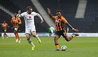 Hull City's Mallik Wilks with a first half shot<br /> <br /> Photographer Rob Newell/CameraSport<br /> <br /> The EFL Sky Bet League One - MK Dons v Hull City - Saturday 21st November 2020 - Stadium MK - Milton Keynes<br /> <br /> World Copyright © 2020 CameraSport. All rights reserved. 43 Linden Ave. Countesthorpe. Leicester. England. LE8 5PG - Tel: +44 (0) 116 277 4147 - admin@camerasport.com - www.camerasport.com