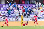 Anas Bani-Yaseen of Jordan (C) celebrates scoring the goal during the AFC Asian Cup UAE 2019 Group B match between Australia (AUS) and Jordan (JOR) at Hazza Bin Zayed Stadium on 06 January 2019 in Al Ain, United Arab Emirates. Photo by Marcio Rodrigo Machado / Power Sport Images
