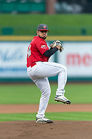 Fort Wayne TinCaps starting pitcher Ramon Perez (30) during a Midwest League game against the Fort Wayne TinCaps at Parkview Field on April 30, 2019 in Fort Wayne, Indiana. Kane County defeated Fort Wayne 7-4. (Zachary Lucy/Four Seam Images)