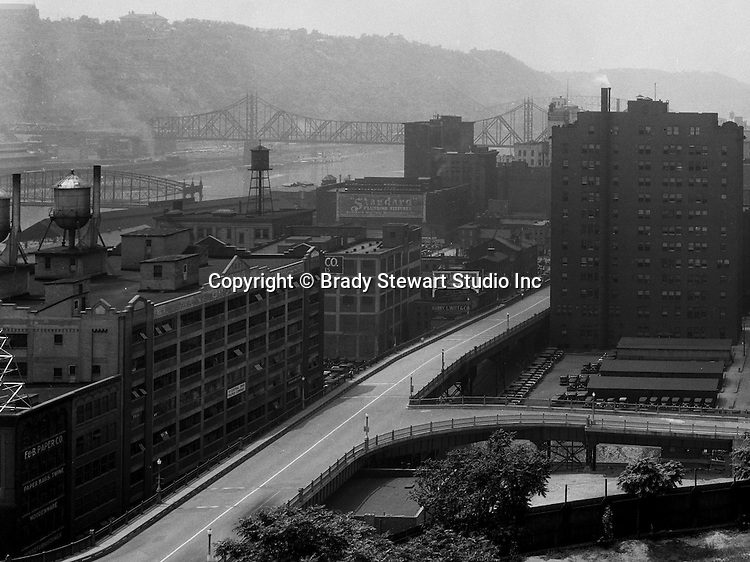 Pittsburgh PA: View of Pittsburgh businesses south of the Boulevard of the Allies from Duquesne University.